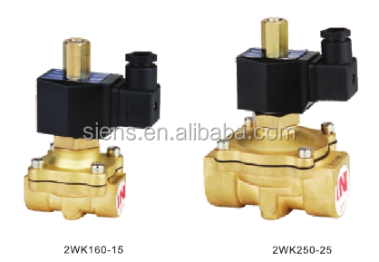 air water oil gas pilot type normal closing direct running type solenoid valve