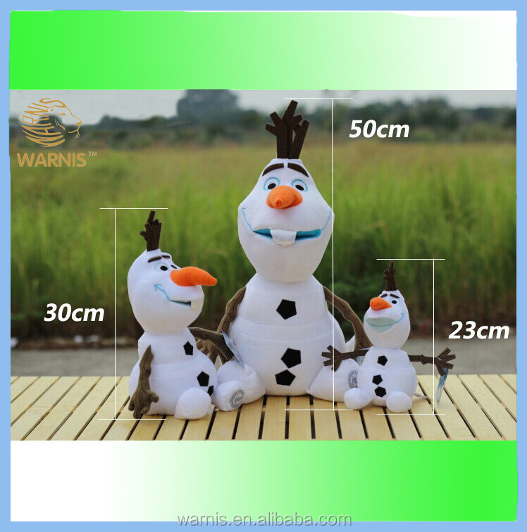<strong>plush</strong> stuffed frozen olaf high quality from china