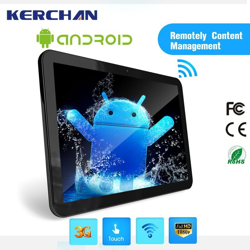 15.6 Inch Wall Mounted Android Tablet, wifi 3g advertising display