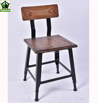 Classical French Vintage Industrial Metal Dining Chairs Loft Style Coffee  House Garden Chair
