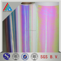 28 micron PET rainbow film for packaging/bags/decoration in rolls