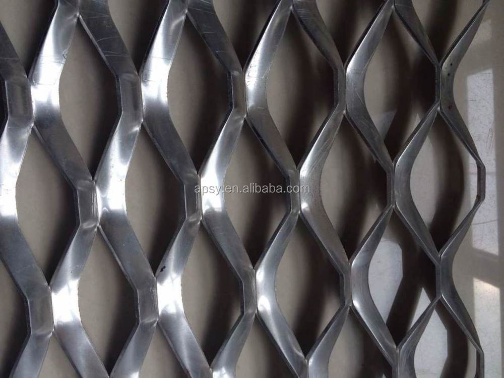 Decorative mesh application and perforated technique aluminum expanded wire mesh