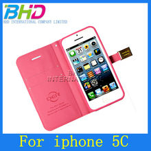 New Style Hot Selling Fashion Ailun Leather Case for iPhone 5C