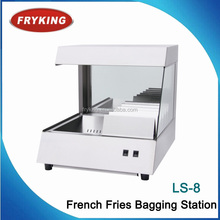 french fries dumping warming bagging station