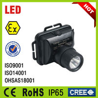 coal mine LED Rechargeable Headlight with iso 14001 certified companies