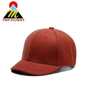 High Quality Short Brim Blank Baseball Cap Winter Sport Wool Cap