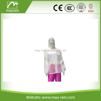 hooded pvc raincoat high quality transparent rain coat cape