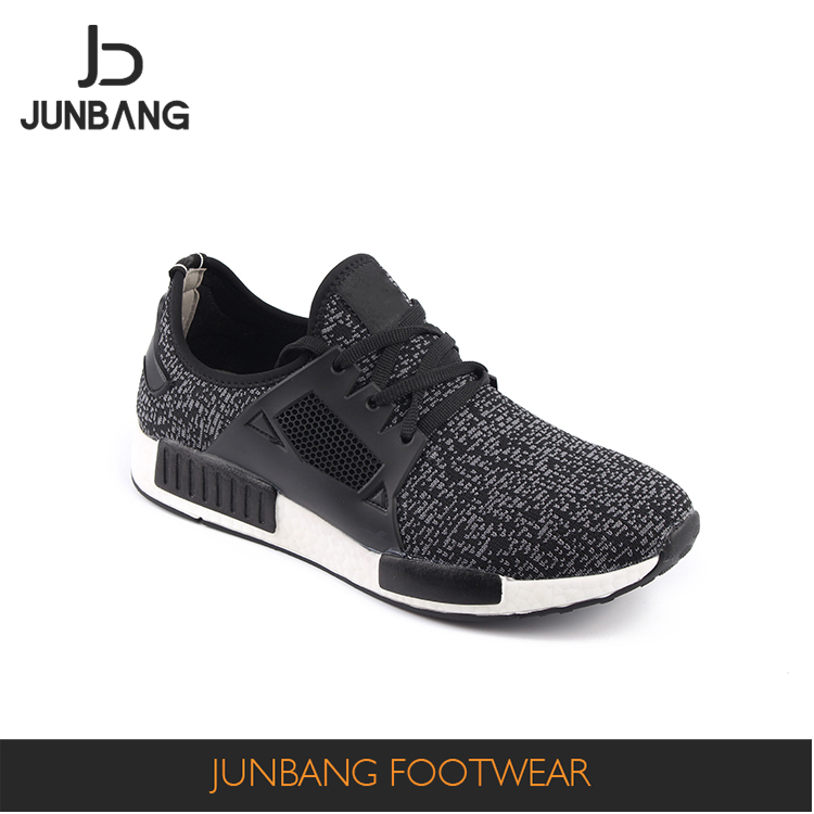 Wholesale prices Custom design black men sports shoe running Shoe directly sale