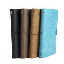 Vintage Leather Cover Journals Handmade Travel Kraft Paper Blank Notebook