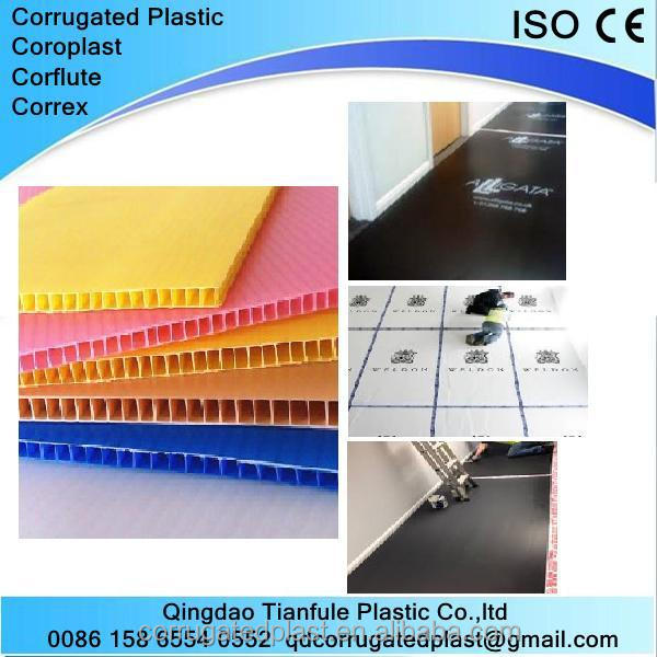 PP Corrugated Hollow Plastic Sheet for Floor Covering