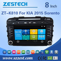 Factory direct sale 8'' screen size 2 din dvd player for Kia Sorento 2015 gps navigation wtih car stereo Rearview camera GPS DVD