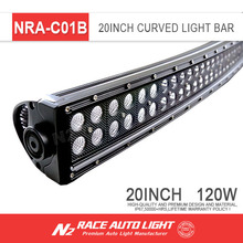 wholesale 20 inch curved led light bar dual rows 3w offroad car light bar NRA-C01B
