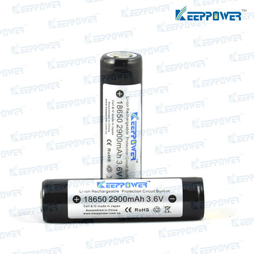 KeepPower protected li-ion 18650 2900 mah for panasonic 18650 battery