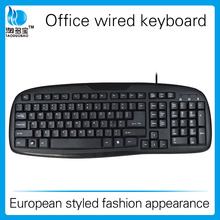 Hot sale competitive price multi language black USB wired keyboard