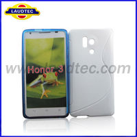 New Phone Case For Huawei Honor 3, S Line TPU Case for Huawei Honor3, case made in china, Laudtec