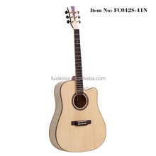 "41"" solid spruce cutway acoustic folk guitar"