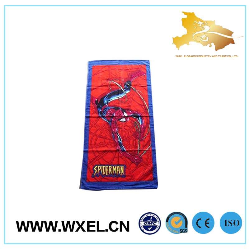 spiderman beach towel kid cartoon