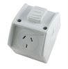 Australian 1Gang 10 A Weatherproof Switched Socket outlet Power Point