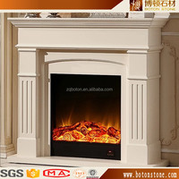 YUNFU stone Hot sale Nature Stone Marble gas fireplace for living room