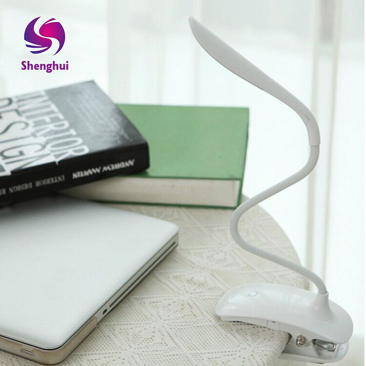 Led Clip Reading Light USB Rechargeable Touch Switch Bedside Book Light with Good Eye Protection Brightness