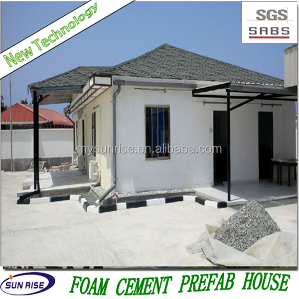 SGS 2015 new technology low cost foam concrete 3 bedroom prefab modular home for sale