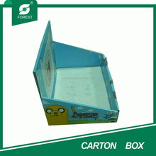 BLUE PRINTING PAPER CARDBOARD FOLDING MATT DISPLAY BOX