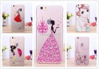 Best Selling Product 2016 Printing Crystal Bling Diamond 3D Clear Case For iPhone 6 PC Hard Back Phone Cover Alibaba Shop
