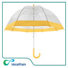 23inch manual open dome shape with overedge clear plastic umbrella