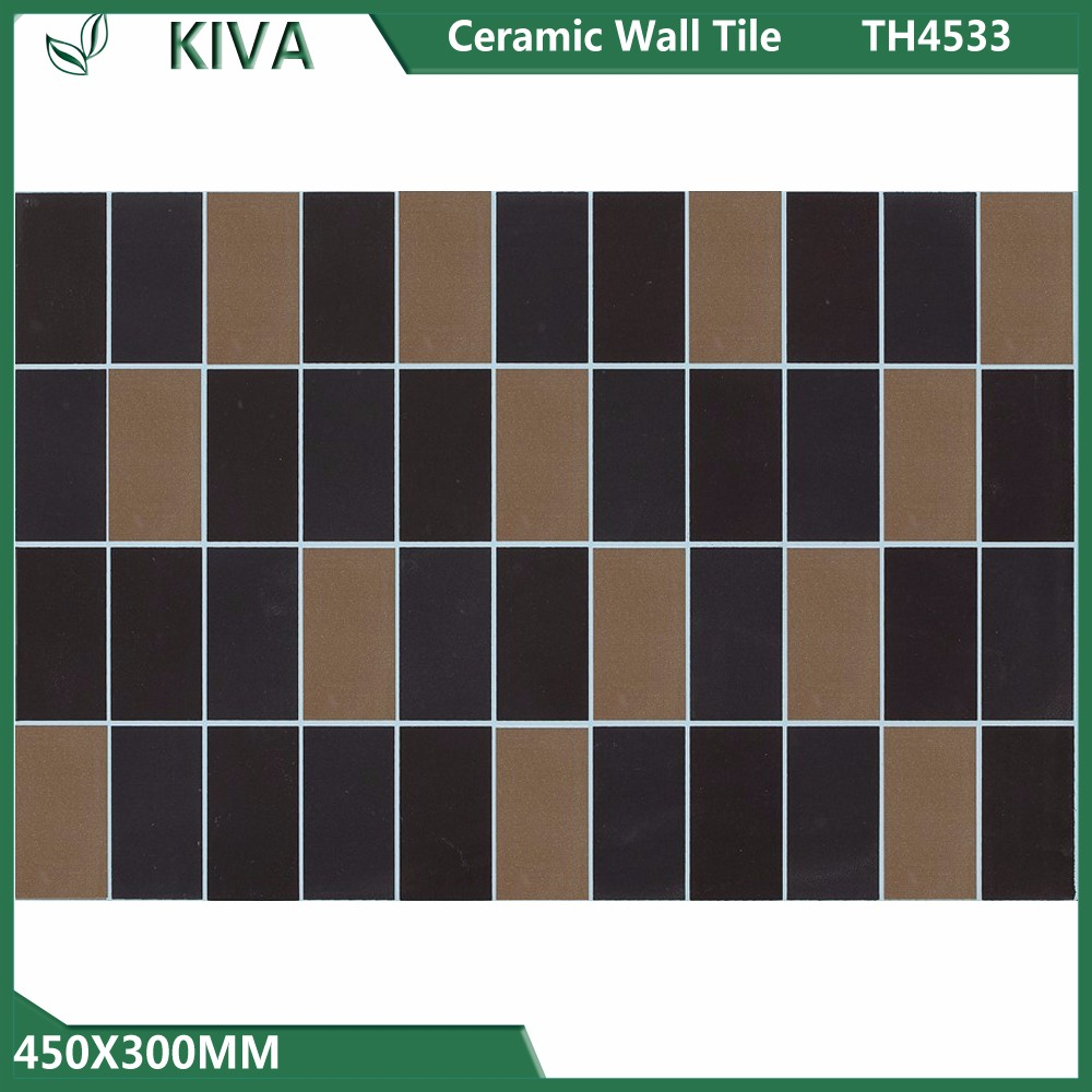 NEW design Black grid shape 450x300 mm ceramic wall tile for bathroom and kitchen