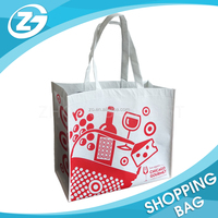 Wholesale Custom Printing Reusable Eco-friendly Laminated Handle RPET Shopping Carrier Tote Bag