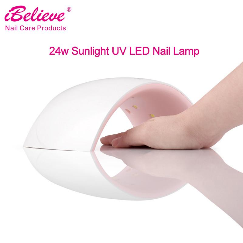 IBelieve УФ светодио дный и светодиодные комбинированные ногтей сушилка sunone УФ светодио дный светодиодные лампы 48 Вт