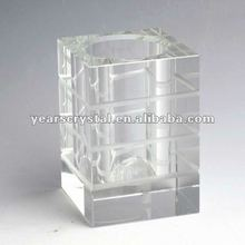 Nice crystal glass pencil vase with name card (R-1305