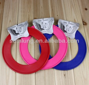 Dog Training Plastic Soft Frisbee, Annular Flying Disk for Pet, Pet Toys 1/3
