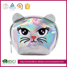 Eco-friendly wholesale colorful Support custom logo PVC cat promotional eva travel cosmetic gift bag