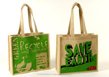 Eco-friendly Printed Natural wholesale jute bags india for shopping and promotiom,good quality fast delivery