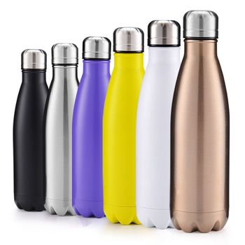 17oz Custom double wall vacuum insulated stainless steel vaccum insulated flasks thermal coke bottle
