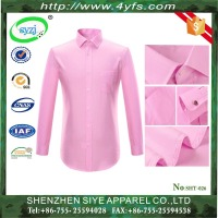 100% Cotton Long Sleeve Casual Shirt for Men/ Customized Slim Fit Dress Shirt