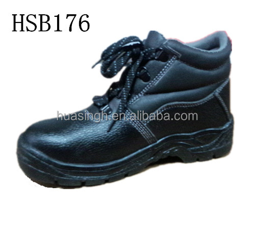 oil field / mining industry anti-hit steel toe work safety boots for manufacturer line