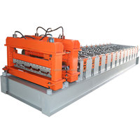 Corrugated Steel Sheet Metal Roof Wall Panel Glazed Tiles Roll Forming Machine