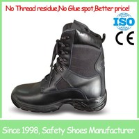 SF6988 High quality steel toe black mens high ankle cheap steel toe work boots