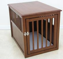China suppliers wooden dog furniture crown dog crate table dog house