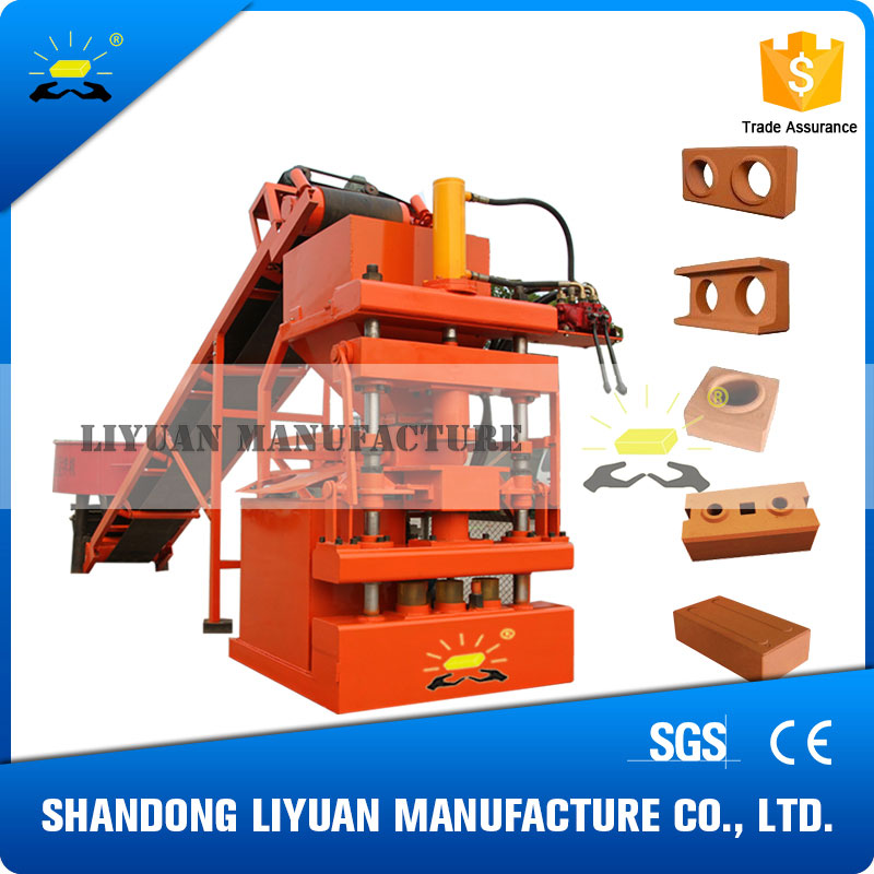 2016 LY1-10 semi-automatic hydraulic clay interlocking brick machine quote