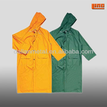 High quality outdoor Nylon PU PVC long raincoat for Men or ladies