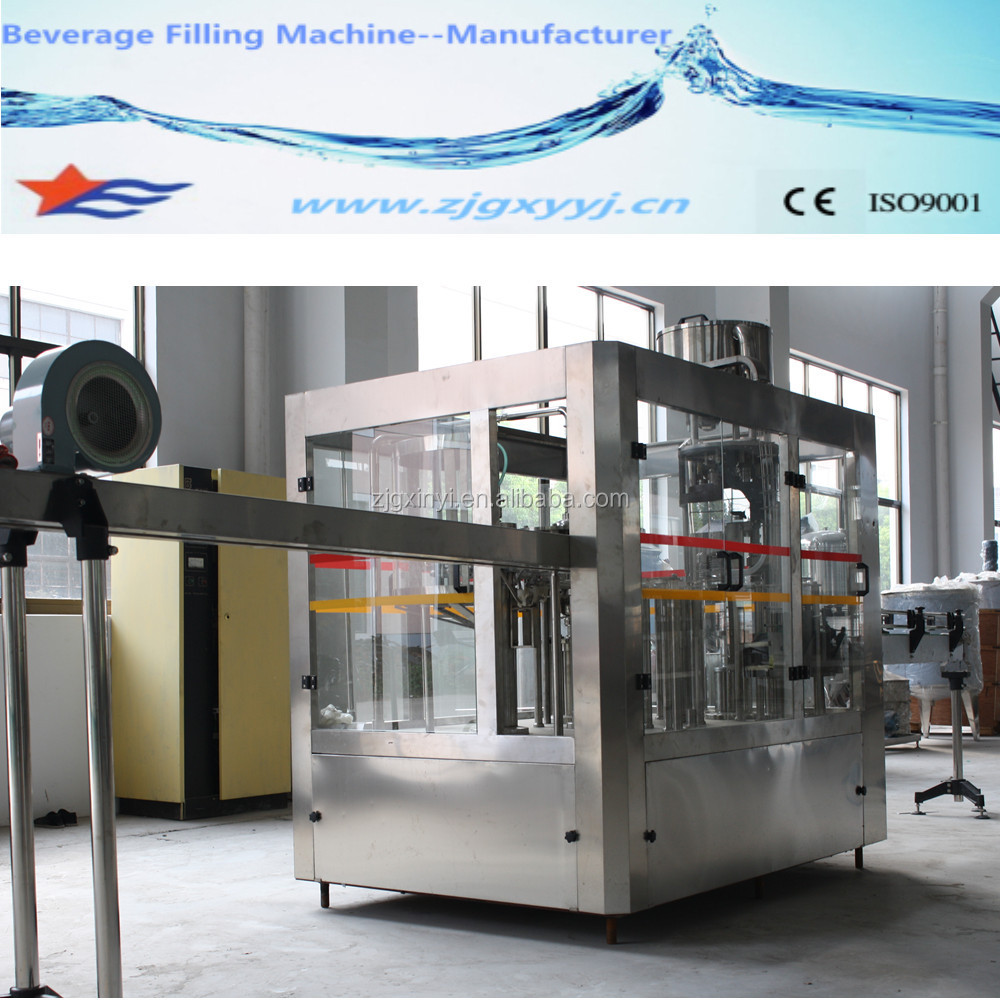 washing filling capping automatic water filling machine