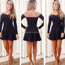 Hot Selling Sexy party dress Lace Chiffon dress Women Clothing JH-DR-744
