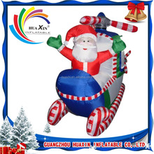 New inflatable santa , sleigh and santa claus