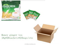 Ginger tea with honey '18gx20sachets with brown color packing in bag