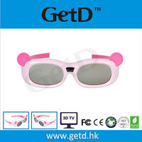 Rechargeble Kids Panda Design Movie IR 3D Glasses/Eyewear for Most Brand IR TV