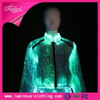 special material fabric optic fiber ladies business suit design
