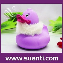 Lovely wholesale funny purple rubber duck Christmas rubber bath toy